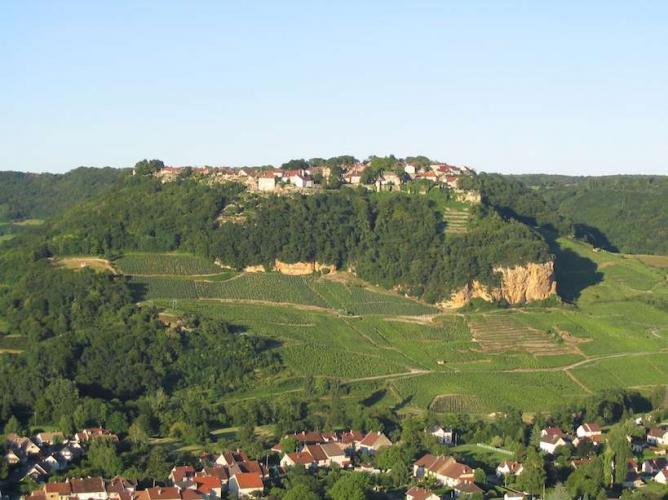 Château Chalon vue du ciel