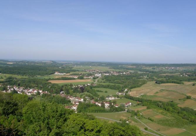 La plaine de Voiteur vue de Château-Chalon